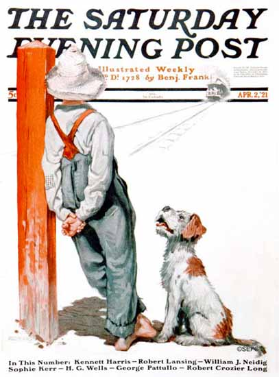 Angus MacDonall Saturday Evening Post Cover Art 1921_04_02 | The Saturday Evening Post Graphic Art Covers 1892-1930