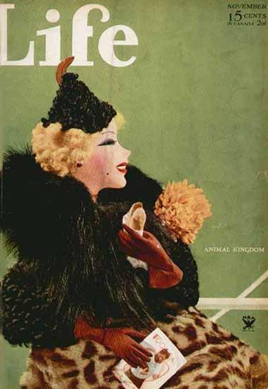 Animal Kingdom Life Humor Magazine 1933-11 Copyright | Life Magazine Graphic Art Covers 1891-1936
