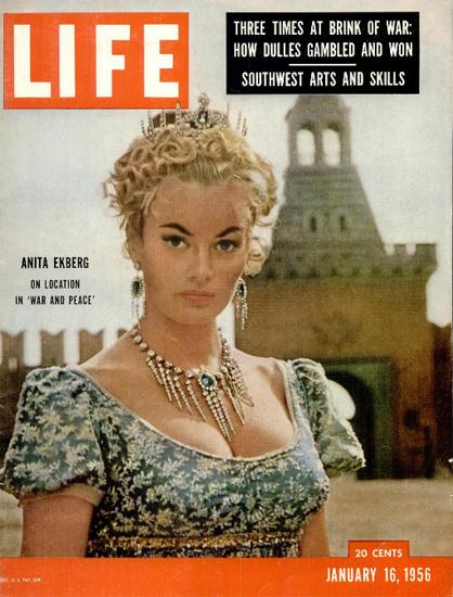 Anita Ekberg in War And Peace 16 Jan 1956 Copyright Life Magazine | Life Magazine Color Photo Covers 1937-1970