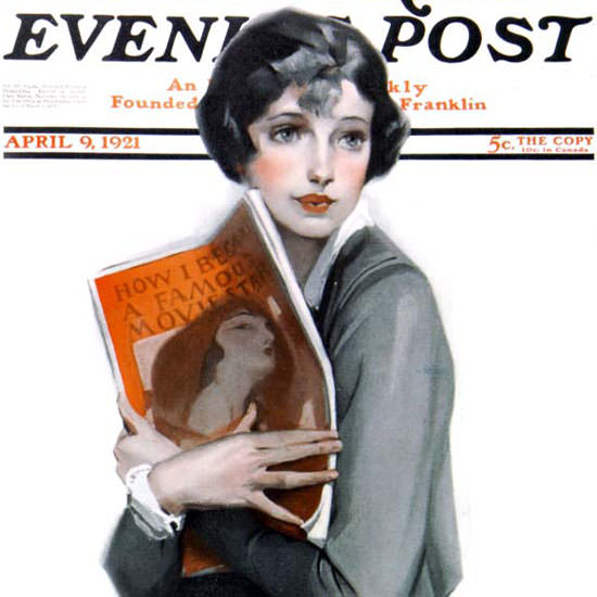 Anita Parkhurst Saturday Evening Post Star 1921_04_09 Copyright crop | Best of Vintage Cover Art 1900-1970