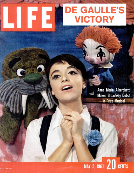 Anna Maria Alberghetti Musical 5 May 1961 Copyright Life Magazine | Life Magazine Color Photo Covers 1937-1970