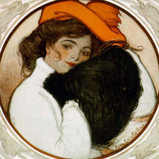 Anne Estelle Rice Saturday Evening Post 1905_03_11 Copyright crop | Best of Vintage Cover Art 1900-1970