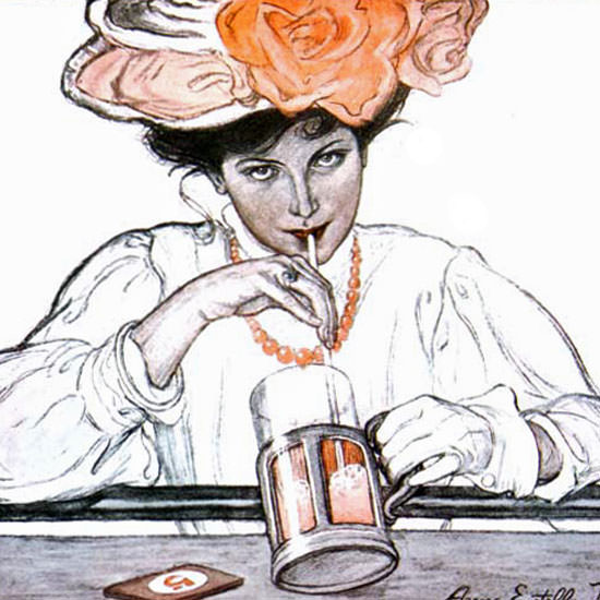 Anne Estelle Rice Saturday Evening Post 1905_07_29 Copyright crop | Best of 1891-1919 Ad and Cover Art