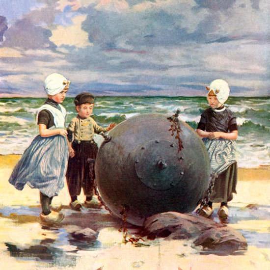 Anton Otto Fischer Life Humor Magazine 1915-08-12 Copyright crop | Best of Vintage Cover Art 1900-1970