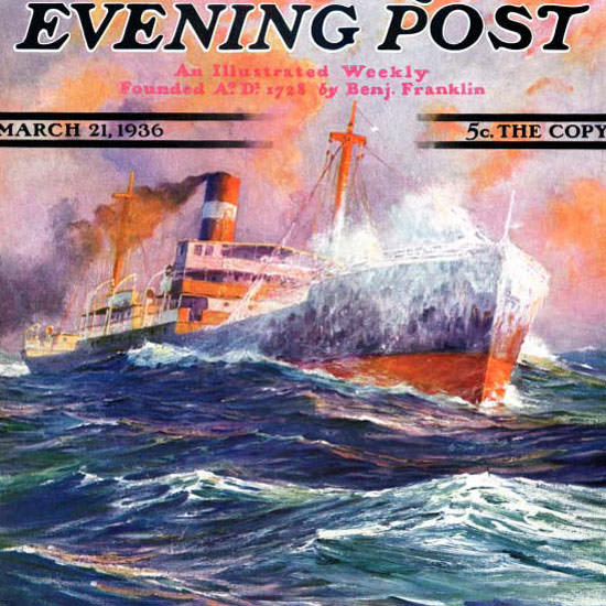 Anton Otto Fischer Saturday Evening Post 1936_03_21 Copyright crop | Best of Vintage Cover Art 1900-1970