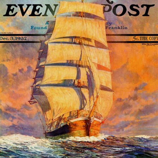 Anton Otto Fischer Saturday Evening Post Red 1932_12_03 Copyright crop   Best of Vintage Cover Art 1900-1970