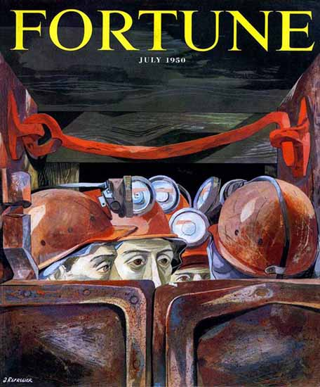 Anton Refregier Fortune Magazine July 1950 Copyright | Fortune Magazine Graphic Art Covers 1930-1959