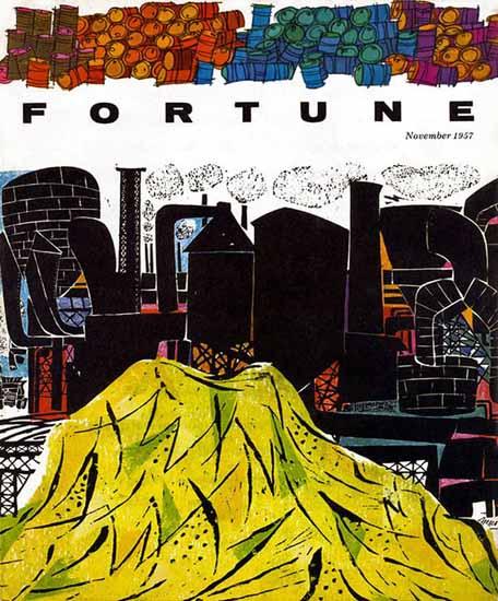 Antonio Frasconi Fortune Magazine November 1957 Copyright   Fortune Magazine Graphic Art Covers 1930-1959