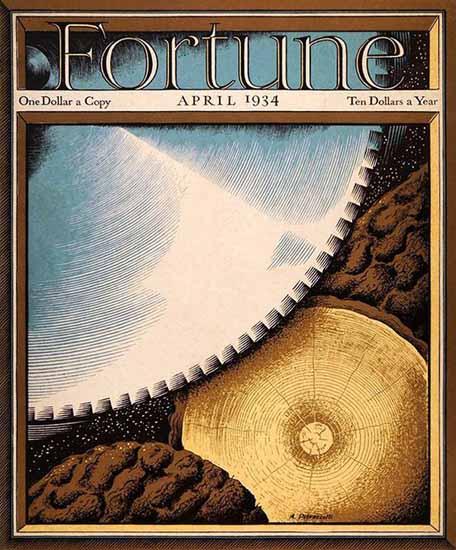 Antonio Petruccelli Fortune Magazine April 1934 Copyright | Fortune Magazine Graphic Art Covers 1930-1959