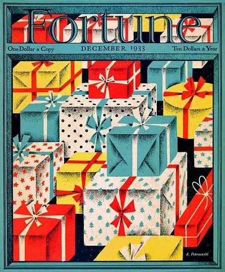Antonio Petruccelli Fortune Magazine December 1933 Copyright | Fortune Magazine Graphic Art Covers 1930-1959