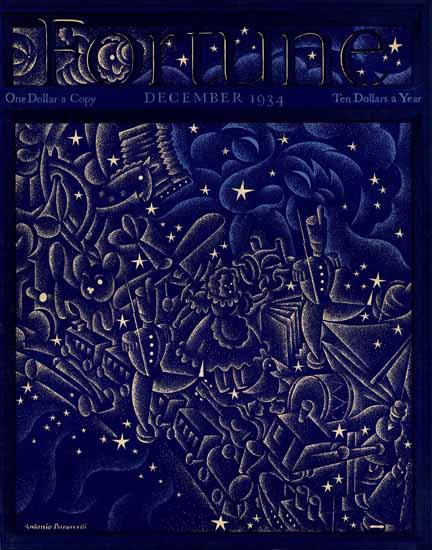 Antonio Petruccelli Fortune Magazine December 1934 Copyright | Fortune Magazine Graphic Art Covers 1930-1959