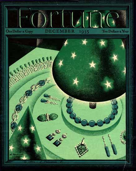 Antonio Petruccelli Fortune Magazine December 1935 Copyright | Fortune Magazine Graphic Art Covers 1930-1959