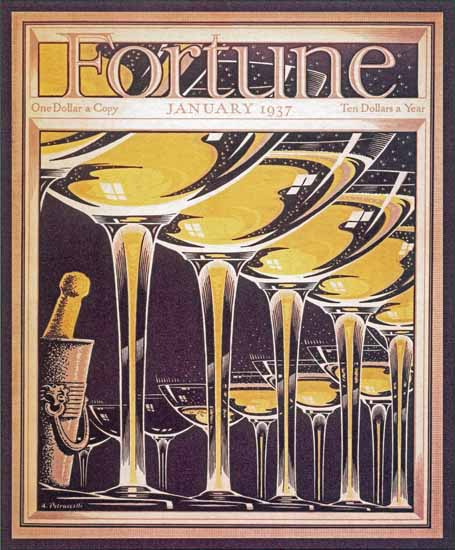 Antonio Petruccelli Fortune Magazine January 1937 Copyright | Fortune Magazine Graphic Art Covers 1930-1959