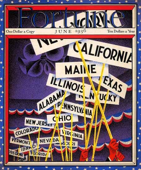 Antonio Petruccelli Fortune Magazine June 1936 Copyright   Fortune Magazine Graphic Art Covers 1930-1959