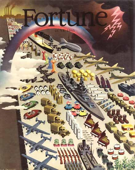 Antonio Petruccelli Fortune Magazine June 1945 Copyright | Fortune Magazine Graphic Art Covers 1930-1959