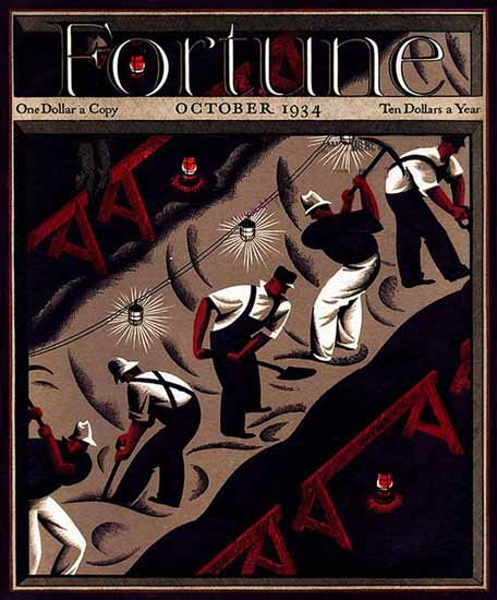Antonio Petruccelli Fortune Magazine October 1934 Copyright | Fortune Magazine Graphic Art Covers 1930-1959