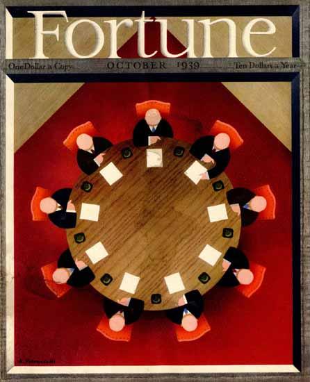 Antonio Petruccelli Fortune Magazine October 1939 Copyright | Fortune Magazine Graphic Art Covers 1930-1959