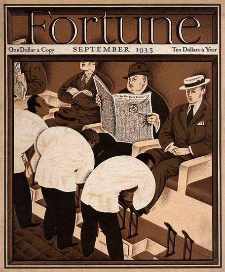 Antonio Petruccelli Fortune Magazine September 1935 Copyright   Fortune Magazine Graphic Art Covers 1930-1959