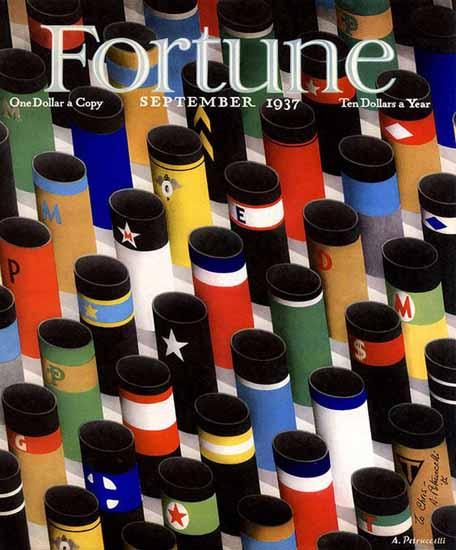 Antonio Petruccelli Fortune Magazine September 1937 Copyright | Fortune Magazine Graphic Art Covers 1930-1959