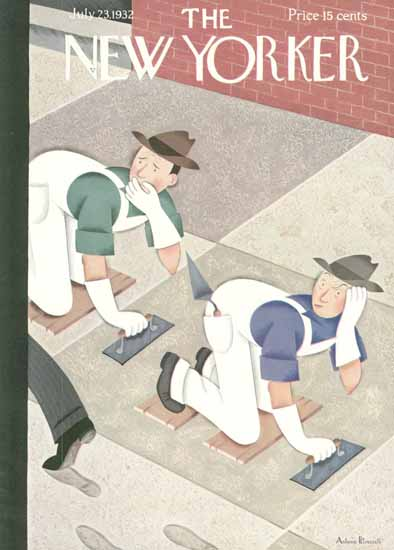 Antonio Petruccelli The New Yorker 1932_07_23 Copyright | The New Yorker Graphic Art Covers 1925-1945