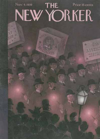 Antonio Petruccelli The New Yorker 1939_11_04 Copyright | The New Yorker Graphic Art Covers 1925-1945