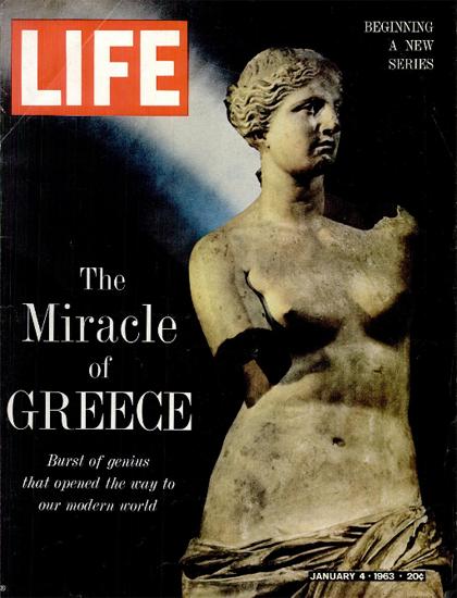 Aphrodite Venus de Milo Statue 4 Jan 1963 Copyright Life Magazine   Life Magazine Color Photo Covers 1937-1970