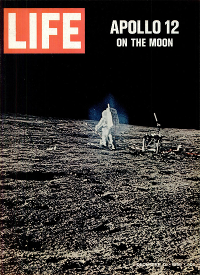 Apollo 12 on the Moon 12 Dec 1969 Copyright Life Magazine | Life Magazine Color Photo Covers 1937-1970