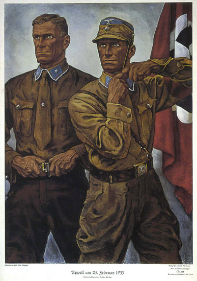 Appell 23 September 1933 Germany Third Reich | Vintage War Propaganda Posters 1891-1970