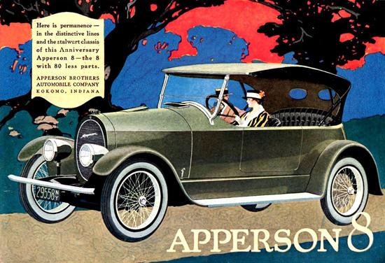 Apperson 8 Cylinder Tourster Kokomo 1919 | Vintage Cars 1891-1970