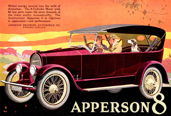 Apperson Anniversary 8 Cyl Kokomo 1919 Day | Vintage Cars 1891-1970