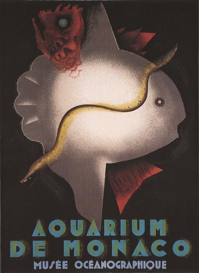 Aquarium De Monaco Musee Oceanographique | Vintage Ad and Cover Art 1891-1970