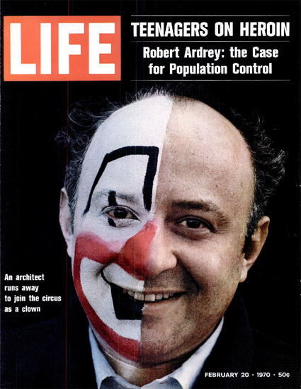 Architect runs away to be a Clown 20 Feb 1970 Copyright Life Magazine | Life Magazine Color Photo Covers 1937-1970