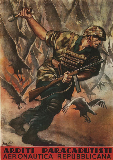Arditi Paracadutisti Italy Italia   Vintage War Propaganda Posters 1891-1970