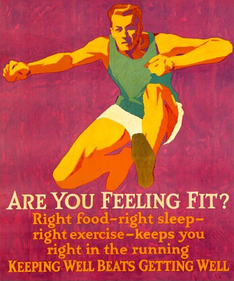 Are You Feeling Fit Athlete Frank Mather Beatty | Vintage Ad and Cover Art 1891-1970