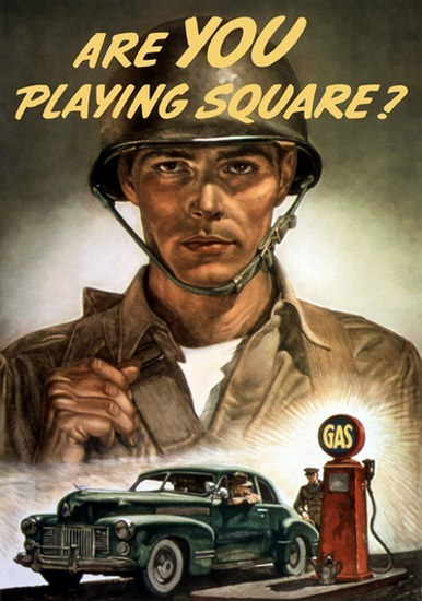 Are You Playing Square | Vintage War Propaganda Posters 1891-1970