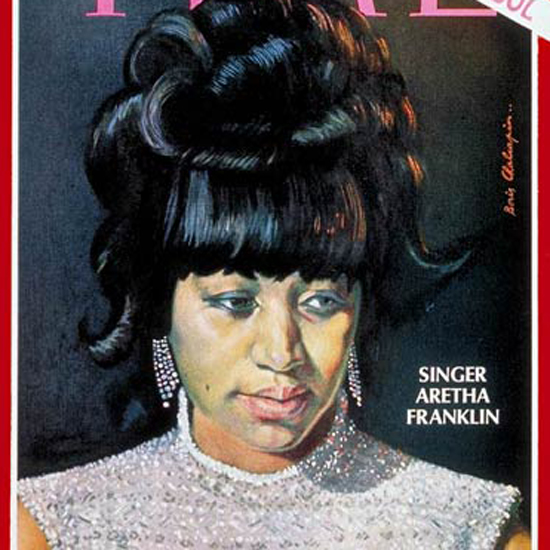 Aretha Franklin Time Magazine 1968-06 by Boris Chaliapin crop | Best of Vintage Cover Art 1900-1970