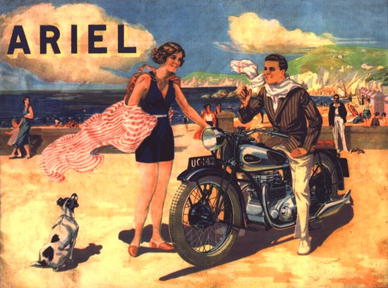 Ariel Motorcycles 1932 | Sex Appeal Vintage Ads and Covers 1891-1970