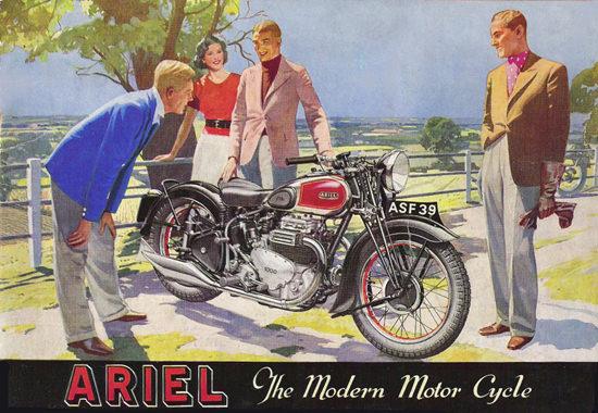 Ariel Motorcycles 1939 | Vintage Travel Posters 1891-1970