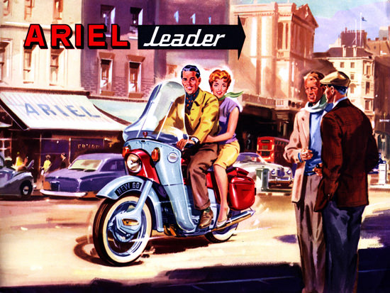 Ariel Motorcycles Leader 1960 | Sex Appeal Vintage Ads and Covers 1891-1970