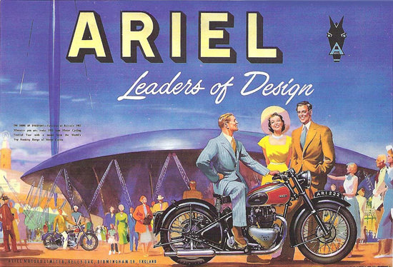 Ariel Motorcycles Twin Leaders Of Design 1951 | Sex Appeal Vintage Ads and Covers 1891-1970