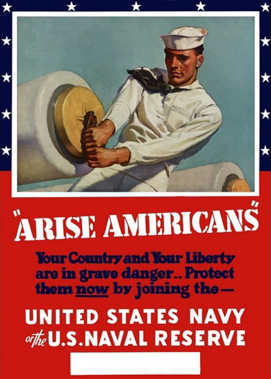 Arise Americans Your Country And Your Liberty | Vintage War Propaganda Posters 1891-1970