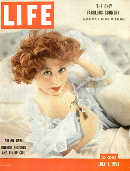 Arlene Dahl Designer and Pin-Up Girl 7 Jul 1952 Copyright Life Magazine | Life Magazine Color Photo Covers 1937-1970