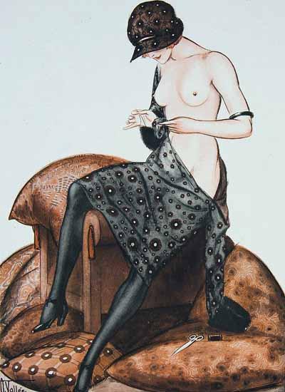 Armand Vallee La Vie Parisienne 1921 De Fil en Aiguille page   La Vie Parisienne Erotic Magazine Covers 1910-1939