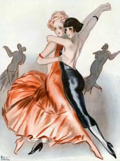 Armand Vallee La Vie Parisienne 1931 Les Jeunes Filles page   La Vie Parisienne Erotic Magazine Covers 1910-1939