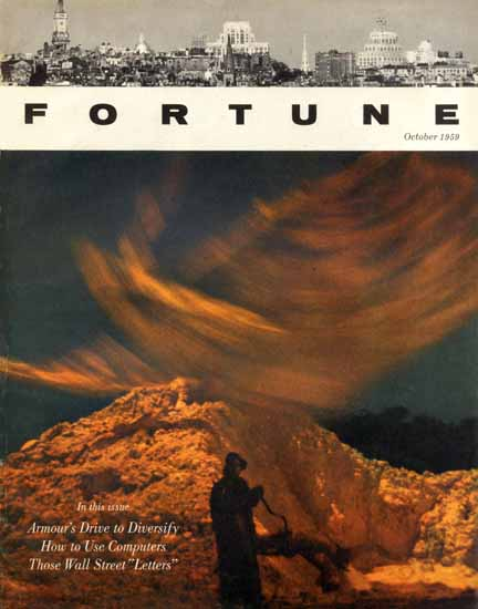 Armours Drive to Diversify Fortune Magazine October 1959 Copyright | Fortune Magazine Graphic Art Covers 1930-1959
