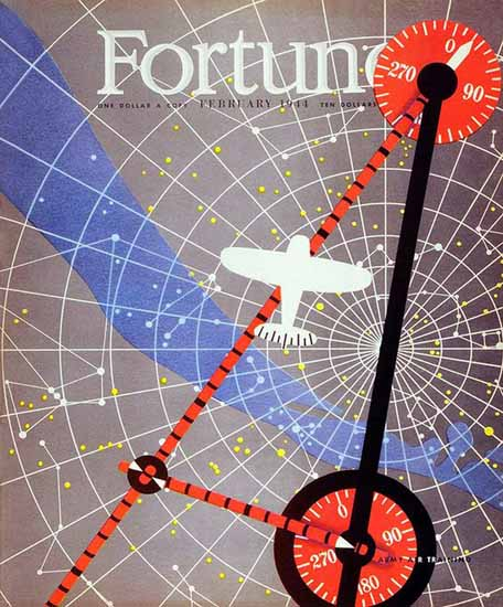 Army Air Training Fortune Magazine February 1944 Copyright | Fortune Magazine Graphic Art Covers 1930-1959