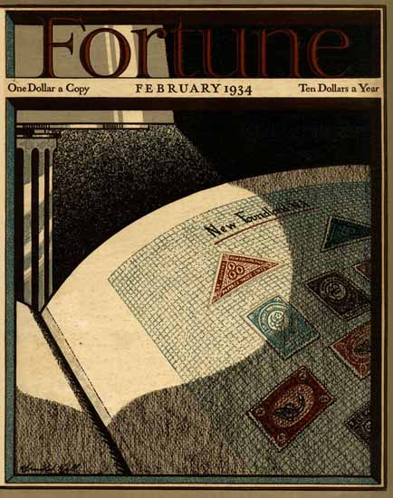 Arnold Hall Fortune Magazine February 1934 Copyright | Fortune Magazine Graphic Art Covers 1930-1959