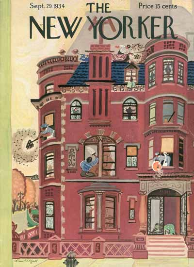 Arnold Hall The New Yorker 1934_09_29 Copyright | The New Yorker Graphic Art Covers 1925-1945