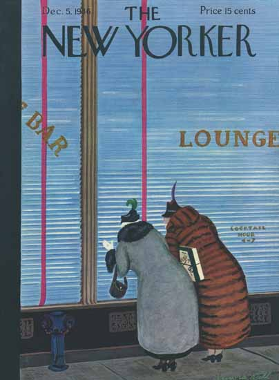 Arnold Hall The New Yorker 1936_12_05 Copyright | The New Yorker Graphic Art Covers 1925-1945