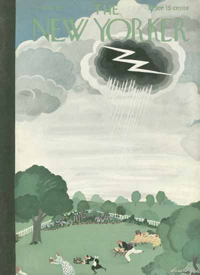 Arnold Hall The New Yorker 1937_07_24 Copyright | The New Yorker Graphic Art Covers 1925-1945
